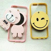 al por mayor iphone bling la rosa-Para el iPhone 7 más el caso 3D Kawaii Bling poco oso componen la cubierta rosada del caramelo del espejo para iphone7 6 s 6s más 6plus 5 s 5s se Casos