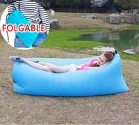 Wholesale 2nd Generation Inflatable Lounger Hangout Beach Air Chair with Portable Carry Bag Easily Inflates In Seconds Lightweight lbs Outdoor