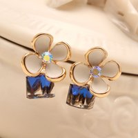 asian beer - Fashion Dimensional Crystal Stud Earrings For Women Pop Style Beer Bottle Luxury Accessories Valentine s Day Gift