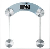 Wholesale Digital LCD Glass Electronic Weight Body Bathroom Health Square Scale lb l_l