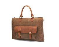 Wholesale Ship from USA Men s Vintage Canvas Leather Satchel School Shoulder Messenger Bag Outdoor Bags outdoor backpack