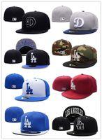 Wholesale 18 colors Los Angeles LA Bue Color Dodgers Baseball Fitted Hats Men s Sport Hip Hop Fitted Caps Women s Fashion Cotton Casual Hats