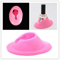 art equipment - Nail Art Equipment High Quality Pink Rubber Nail Art Manicure Polish Slanted Holder Stand Seat Tool