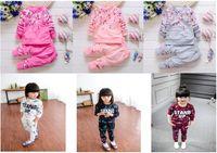 baby girl s top clothes - Baby Children Clothing Sets Girl Floral Clothes Suit Top Pants Pieces Sets Children Cotton Suits S L