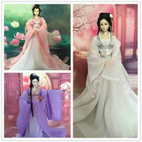Wholesale Chinese Ancient Costume Clothes for Jointed cm KURHN ob27 Bjd doll Handmade Doll Clothing Girl Toys Dolls Accessories
