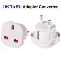 adaptador de enchufe unido al por mayor-De alta calidad Reino Unido a la UE adaptador de enchufe Reino Unido a Europa AC Travel Power Adapter Converter