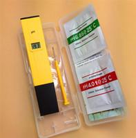 Wholesale Portable Acidity Meter PH Test Pen LCD Display ph for Aquarium Pool Water Laboratory DHL free