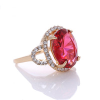 Wholesale Beautiful Stone Ring New Arrival Gold Plated Fashion Trendy Style Rings for Women Jewelry