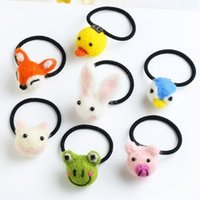 band dolls - Children are cute little girl fleece doll hair rope ring girls head accessories leather ring Tousheng rubber band