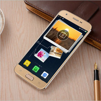 Wholesale DHL S7 phone edge Android Smartphone bit cell phones Show MTK6585 Octa Core WIFI Fake G LTE dual Sim