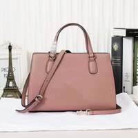band tote - Genuine Leather Medium Lady Handbags with Flap Pocket Socialite Style Woman Totes with Single Shoulder Band