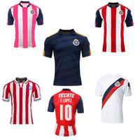 Wholesale 2017 Chivas de Guadalajara jerseys Chivas Guadalajara soccer jerseys thai quality O BRAVO REYNA A PULIDO ARCE pink camisetas