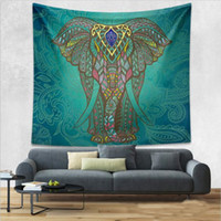 Wholesale Bohemian Tapestries Big size Vintage animal floral Mandala living room Tapestry Home decoration Hippie Indian Polyester Beach Shawl