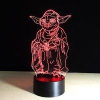 Wholesale Creative D Desk Lamp Stars Wars Series Images Versions Remote Control Decoration Room