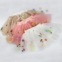 Cheap New Princess Kids Girls Tutu Colorful Ball Skirts Ruffles Three Color Sweet Party Skirts Western Children Holiday clothing