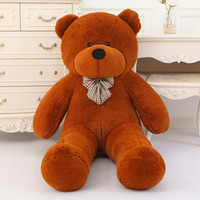 Wholesale New arrival TEDDY BEAR STUFFED LIGHT BROWN GIANT JUMBO size cm cm cm cm cm cm cm birthday gift Christmas gift
