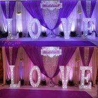 Wholesale New Arrival Hollow Carved LED Flashing LOVE Wedding Centerpieces Road Lead Backdrop Props Decoration Supplies