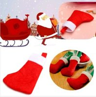 Wholesale Christmas Santa Claus Sock Stockings Dinning Cutlery Holder Tableware Decoration Your Best Choice Perfect Xmas Decor