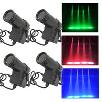 beam stock - 4PCS W RGBW LED Spot Stage Lighting DMX Pin Spot DJ Disco Bar Beam Effect Lights Lamp US STOCK