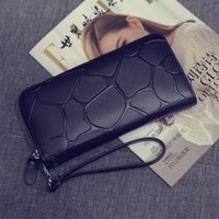 belt purse pattern - The new Brand fashion European and American Stone Pattern pu leather women long wallets high grade clutch bag zipper coin purse