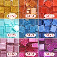 art materials suppliers - 200 gram CM Square Glitter Mosaic Loose DIY Hobbies DIY Mosaic Art Material Supplier Glass