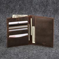 Wholesale 100 Genuine leather passport bag vintage men s passport sleeve big capacity cow leather men s card holder cheque bag JM