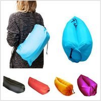 Wholesale New Lamzac Inflatable Sleeping Bag D Terylene x70cm Fast Inflatable Sofa Outdoors Air Couch Multiple Colors