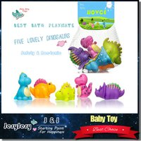 baby shower s - 5 Lovely Animal Dinosaur Shape Colorful Soft Rubber Water Pool Float Bathing Shower Toys For Baby Non toxic
