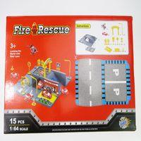Wholesale Plastic Fire Fighter Assemble Parking Fire Truck Rescue Plane