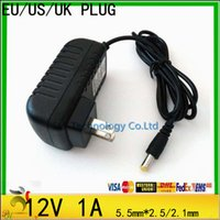 Wholesale Good quality V to DC V A Charger US EU UK Plug Power Switch Adapter Power Supply mm V Charger Converter