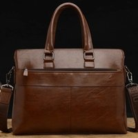 Wholesale Leather casual male bag trend new mobile commerce shoulder bag computer bag briefcase cross section