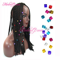 Wholesale 100pcs Colorful Link Beads Rings Havana Mambo Beads Box Braid Hair Braids Cuff Clip Dreadlock Beads Adjustable x8mm Colors Optional
