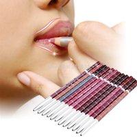 Wholesale Professional Lipliner pencil Waterproof wooden blend Lip Liner Pencil CM Colors Per Set Hot makeup lipstick tool
