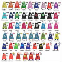Wholesale Double side kids Capes and masks dog patrol chewbacca zuma catwoman rubble marshall rocky shazm for Children capes with mask