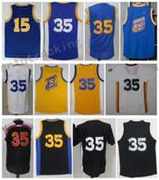 huge discount c65d0 f2297 Basketball Unisex Sleeveless Men Basketball Retro Warri0rs #15 SPREWELL #30  CURRY #35 DURANT