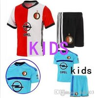 Wholesale 2016 High quality Feyenoord Kids Jersey kit Soccer Feyenoord jersey Children youth Kits Lisboa Football shirts maillot