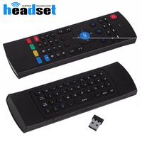 Wholesale 2 G Remote Control MX3 Air Mouse Wireless Mini Keyboard With IR Learning Mode smart Remote Control Keyboard for Android TV Box