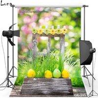 Wholesale 5x7ft Happy Easter Flower Vinyl Photography Background For Children Color Egg Backdrop For Newborn photo studio Props