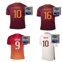 Wholesale Indonesia s quality Romes TOTTI DE ROSSI third Jerseys Rubber Serie A PJANIC DZEKO home away Romas Jerseys shirts