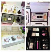 bb puff - Makeup sets pack Set Cosmetic Set Makeup medium Mascara Eyeliner Lipstick Lip Gloss blush BB cream puff Cosmetic Set for woman and men gift