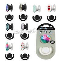 Wholesale Fashion Air Sac phone holder Expanding Stand Grip Pop Socket Mount for iPhone Plus Smartphone Tablet Car Mount Popsockets Combo Popclip
