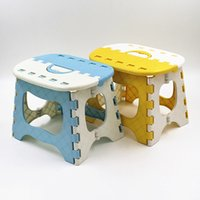 Wholesale Blue Yellow Pink Plastic Folding Stool Type Thicken Step Ottoman Portable Home Furniture Kid Child Convenient Dinner Stools