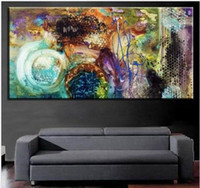 Wholesale Pure Hand Painted Modern Huge Abstract Wall Decor Art Oil Painting On High Quality Canvas Multi customized sizes Ab003