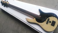 Wholesale FLAME MAPLE MIX WITH ROSEWOOD body Foderaa Active string fretless bass guitar