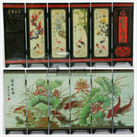 Wholesale Fine for years have fish lacquer process small screen with Chinese characteristics