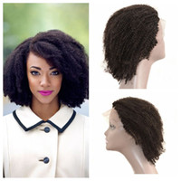 Wholesale Lace Front Wigs Natural Hairline Brazilian Afro Kinky Curly Human Hair Full Lace Wigs U Part Wigs