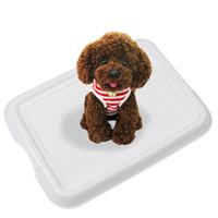 Wholesale indoor dog training tray dog toilet pet dog toilet dog toilet pad pet potty toilet mesh blue pink supply