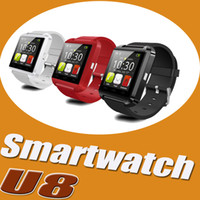 Wholesale Bluetooth U8 Smartwatch Wrist Smart Watch For iPhone Plus S SE S Samsung S7 Edge S6 Note HTC LG Android Smartphones With Box DHL p