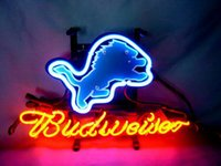 advertising football - Budweiser Lions Football Handmade Neon Sign Bar Gameroom Club Advertising Display Decoration Logo Glass Tube Neon Signs With Board quot x14 quot