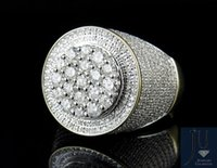 Wholesale Men s K Yellow Gold Genuine Diamond Round D Cluster Pinky Ring ct mm